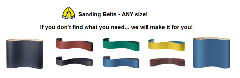 Huge selection of sanding belts!