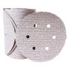 "Sanding Disc 6"" Diameter 6 Hole Pattern PSA Sticky Back Premier Red Aluminum Oxide 100 Grit Carborundum 15316 6"" Sticky Back 6 Hole"