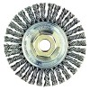 "Wire Wheel 4-7/8"" Diameter with 5/8-11 Arbour Hole .023 Gauge Stringer Bead Knotted"