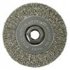 "4"" Narrow Face Crimped Wire Wheel, .014"" Stainless Steel Fill, 5/8""-11"