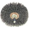 "Wire Wheel 3"" Diameter x 1/2"" Wide with 1/4"" Shank .014 Gauge Crimped (Stainless Steel)"
