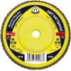 """Flap Disc 4-1/2"""" Diameter 5/8-11 Arbour Hole SMT640 60 Grit Klingspor 207208"""