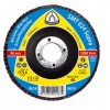 """Flap Disc 4-1/2"""" Diameter 7/8"""" Arbour Hole SMT624 120 Grit Klingspor 322769"""